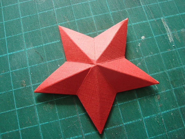 Стиле, как сделать объемную звезду для открытки на 9 мая